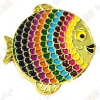 "Géocoin ""Rainbow Fish"" V2 - Spectrum Gold LE"
