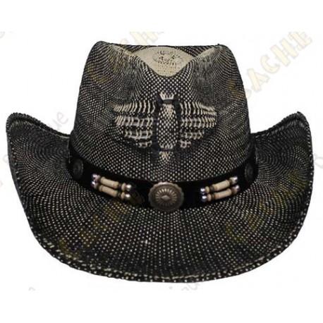 """Sombrero """"Texas"""" - Negro / Marrón"""