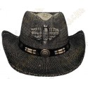 """Chapeu """"Texas"""" - Preto / Marrom"""