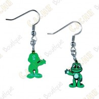Signal the frog trackable earrings