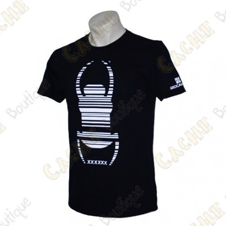 "Trackable ""Travel Bug"" T-shirt - Black"
