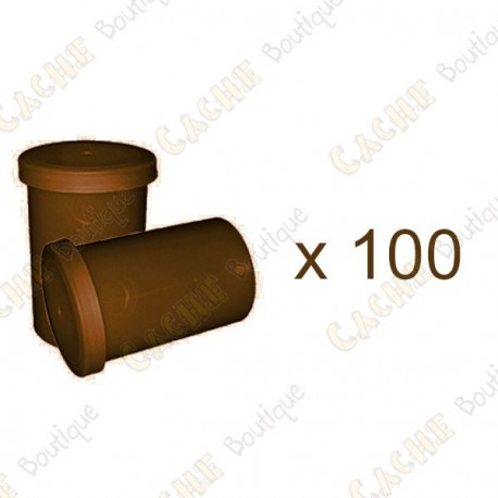 Mega-Pack - Film canister marron x 100