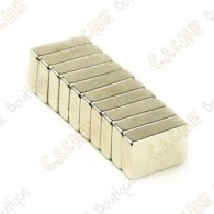 Magnets neodymes 20x4x1mm - Lot de 5