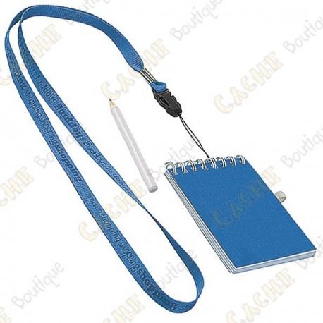 Pequeño logbook con lápiz