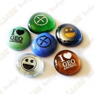 Glass stones - Pack of 6
