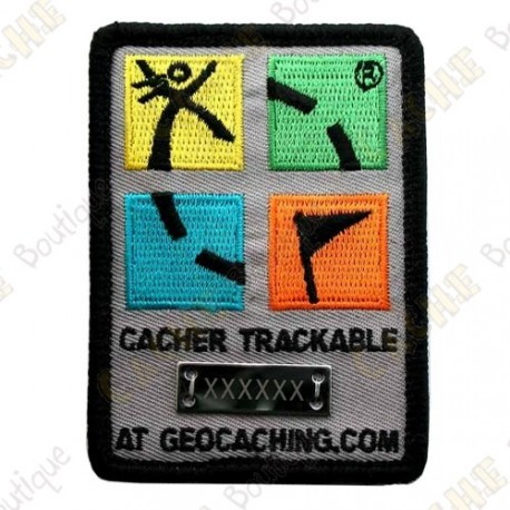 Patch Geocaching trackable - Quadricolor