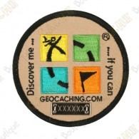 Patch Geocaching trackable - Rodada