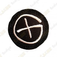 Patch geocaching rond - Noir / Blanc