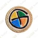 Patch geocaching - Quadricolor / Bege
