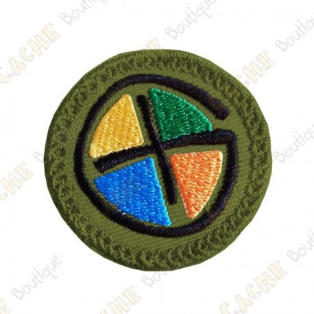 Patch geocaching - Quadricolor / Khaki