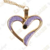 """Geocoin Collar """"Eternal Love"""" - Púrpura / Oro"""