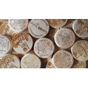 Wood coins personalizados x 50
