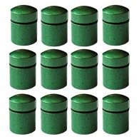 Magnetic Nano Caches x 12 - Green