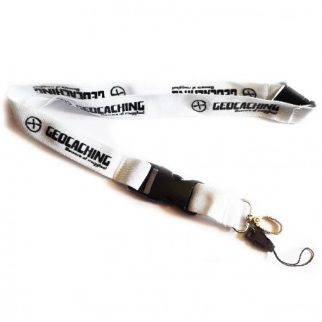 Lanyard Geocaching - Blanco