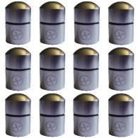 """Magnetic Nano Cache """"Geo"""" x 12 - Silver"""
