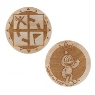 Wooden coin - Signal the frog