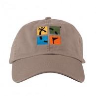 Casquette logo Geocaching 4 couleurs - Sable