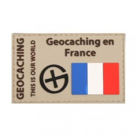 """Parche """"Geocaching en France"""" PVC"""
