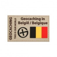 "Patch ""Geocaching en Belgique"" PVC"
