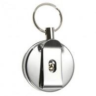 Badge porte-clé rétractable fil d'acier