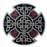 """Géocoin """"Croix celtique"""" - Noir"""