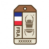 "Travel Bug ""Origins"" Sticker - France"