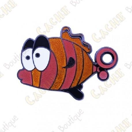 "Géocoin ""Go Fish"" - Orange"