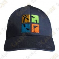 Gorra logo Geocaching color - Gris