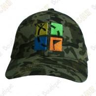 Casquette logo Geocaching quadri - Camouflage