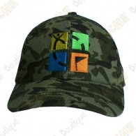 Geocaching cap with color logo - Camouflage