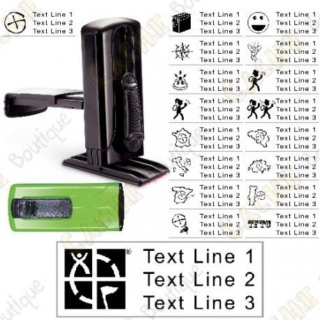 sello de bolsillo personalizable - 38x14mm