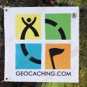 Trackable Geocaching color flag - Small