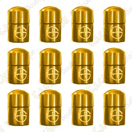 "Magnetic Nano Cache ""Geo"" x 12 - Gold"