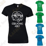 "T-shirt ""Geocaching Addict"" Mulher"