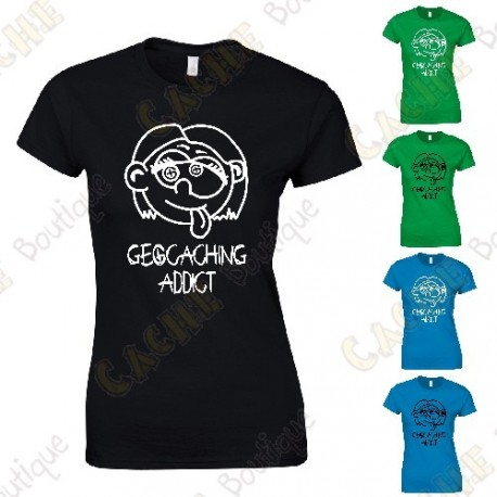 "Camiseta ""Geocaching Addict"" Mujer"