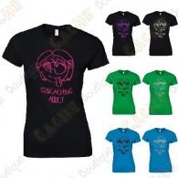 """Geocaching Addict"" glitter T-shirt for Women"