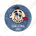 """""""Geocaching Addict"""" Button Boy"""
