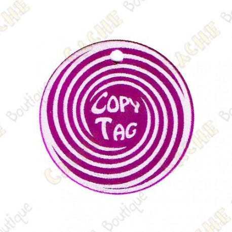 Copy Tag - Geocoin/Double tag - Púrpura