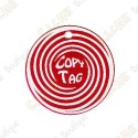 Copy Tag - Geocoin/Traveler de secours - Rouge
