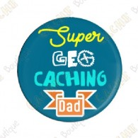 """Super Geocaching Dad"" button"