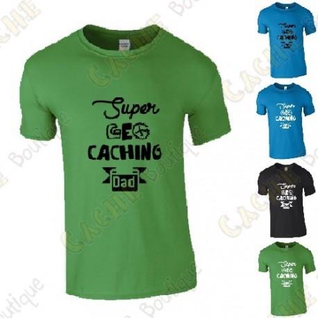 """T-Shirt """"Super Geocaching Dad"""" Homme"""
