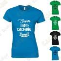 """T-Shirt """"Super Geocaching Mum"""" Femme"""