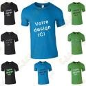 T-shirt 100% personalizado, Homem