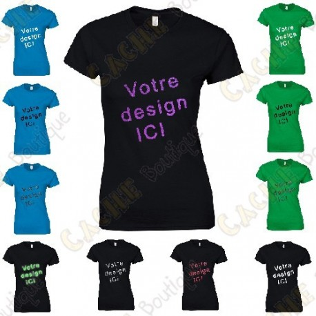 T-Shirt 100% personnalisé, Femme