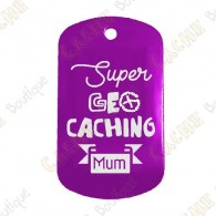 """Super Geocaching Mum"" Traveler - Purple"