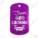 """""""Super Geocaching Mum"""" Traveler - Purple"""