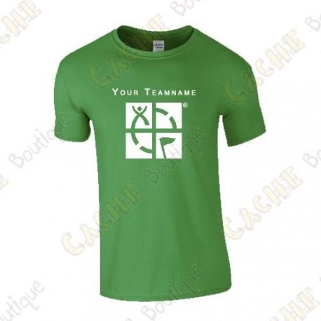 Camiseta con Teamname, Hombre - Negra