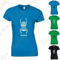 """T-shirt trackable """"Travel Bug"""" Mulheres"""