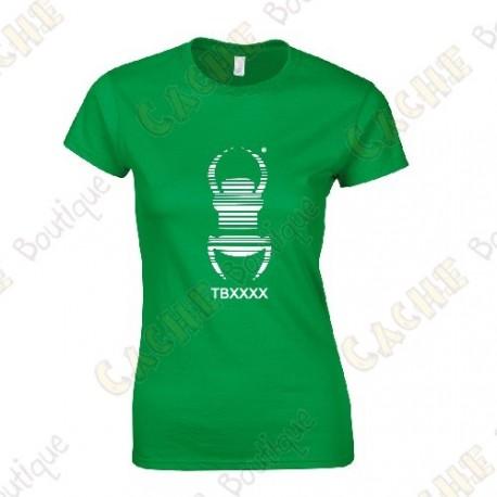 "Camiseta trackable ""Travel Bug"" Mujer - Negra"