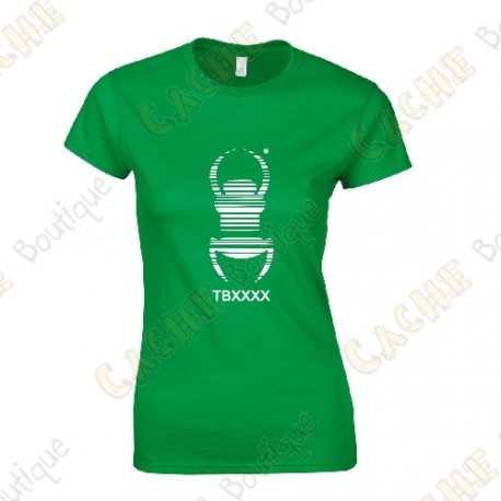 "Trackable ""Travel Bug"" T-shirt for Women - Black"